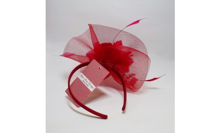 Jane Anne Designs Fascinator - Red