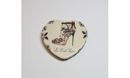 Maranda Ti Vintage Collection Heart Compact Mirror - Le Boot Lace