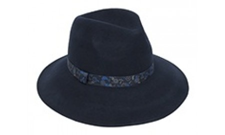 Pia Rossini Charlton Hat - Dark Navy