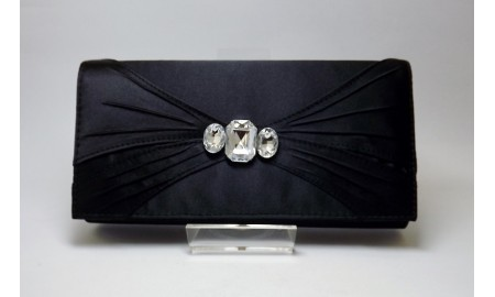 Black Satin Clutch Bag
