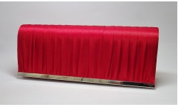 Envy Red Satin Clutch Bag