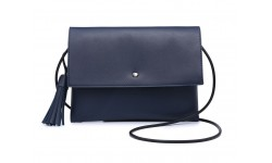 Navy Inc Across Body Flap Over Bag - Navy