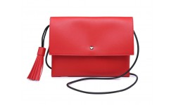 Navy Inc Across Body Flap Over Bag - Red