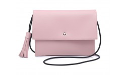 Navy Inc Across Body Flap Over Bag - Pale Pink