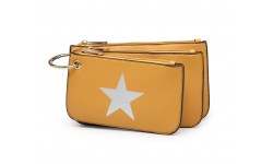 House of Milano Star Make Up Bags - Mustard