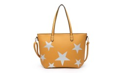 House of Milano Small Star Tote Bag - Mustard