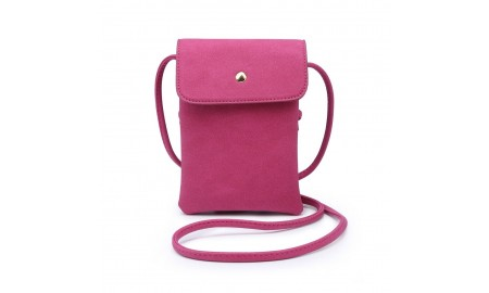 Navy Inc Small Across Body Bag - Fuchsia