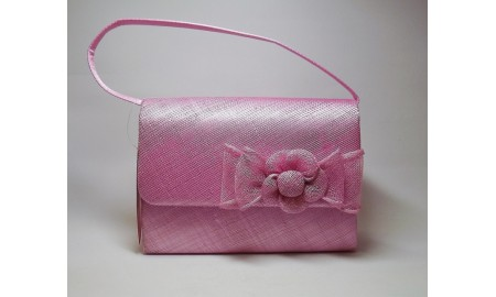 Jane Anne Designs - Straw Pink Occasion Bag