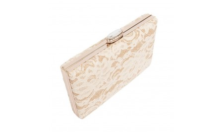 Pia Rossini Eleanor Lace Clutch Bag - Ivory