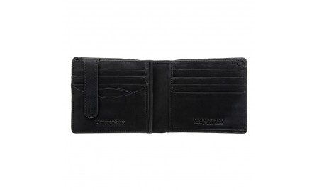 Tumble & Hide Two Fold Wallet With Swing - Black