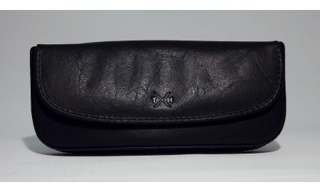 Tumble & Hide Tudor Leather Glasses Case - Black