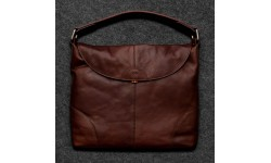 Tumble & Hide Tudor Leather Hobo Bag - Brown