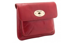 Tumble & Hide Italian Leather Flap Over iPad Sleeve - Red