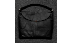 Tumble & Hide Tudor Leather Hobo Bag - Black