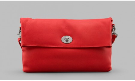 Yoshi Lowry Leather Shoulder Bag - Red