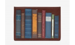 Yoshi Bookworm Slim Leather Card Holder - Brown