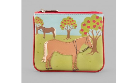 Y by Yoshi Day At The Stables Leather Zip Top Purse