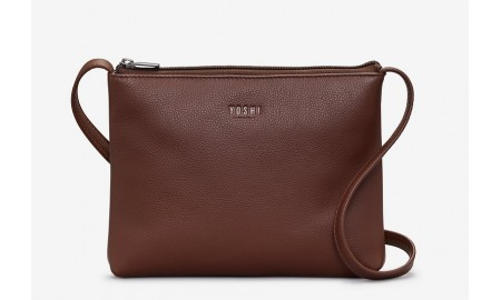 Yoshi Parker Leather Cross Body Bag - Brown
