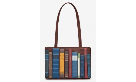 Yoshi Bookworm Library Leather Shoulder Bag - Brown