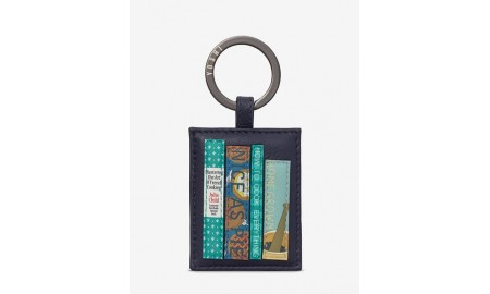 Yoshi Bookworm Cookbook Leather Keyring