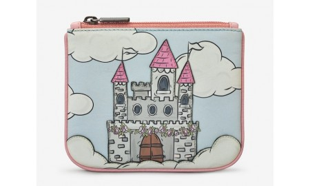 Y by Yoshi Princess Castle Leather Zip Top Purse