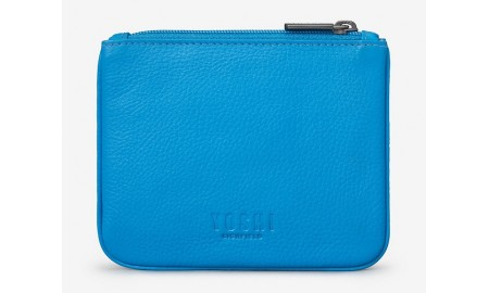 Y by Yoshi Leather Zip Top Peacock Purse