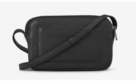Yoshi Porter Leather Cross Body Bag - Black