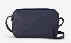 Yoshi Porter Leather Cross Body Bag - Navy
