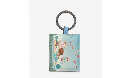 Yoshi Afternoon Tea Party Leather Keyring
