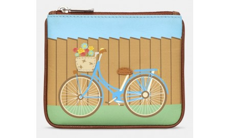 Y by Yoshi Bicycle Leather Zip Top Purse