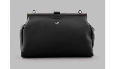 Yoshi Swanson Leather Frame Clutch Bag - Black