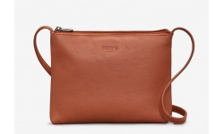 Yoshi Parker Leather Cross Body Bag - Tan
