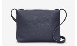 Yoshi Parker Leather Cross Body Bag - Navy