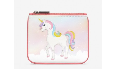 Y by Yoshi Ophelia The Unicorn Zip Top Leather purse