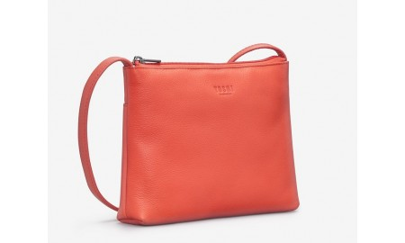 Yoshi Parker Leather Cross Body Bag - Coral
