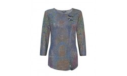 Casamia 3/4 Sleeved Multicolour Jumper with Mock Cross Over