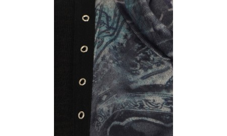 Casamia Drape Neck Tunic with Floral Print
