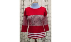 Casamia Anchor Sweater - Red & White