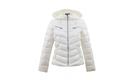 Marble White Padded Coat