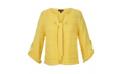 Marble Tie Front Jacket - Yellow