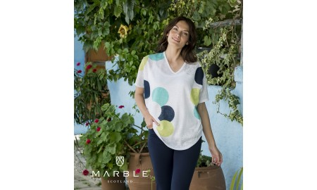 Marble Twinset - White
