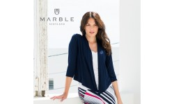 Marble 3/4 Sleeve Shrug - Navy