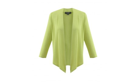 Marble 3/4 Sleeve Shrug - Lime Green