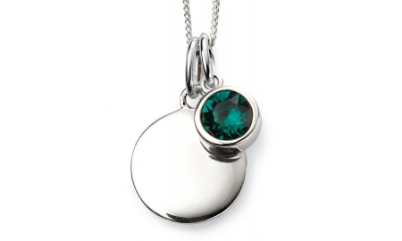 Beginnings Silver May Birthstone Pendant