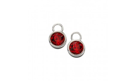 Beginnings Silver July Birthstone Charm Earrings