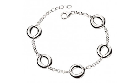 Beginnings Silver Organic Open Circle Bracelet