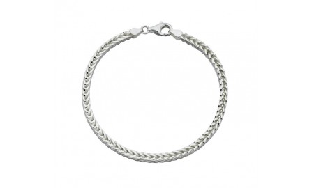 Beginnings Silver Foxtail Chain Bracelet