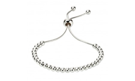 Beginnings Silver Children's Polished Ball Toggle Bracelet