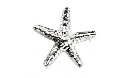 Beginnings Silver Starfish Brooch