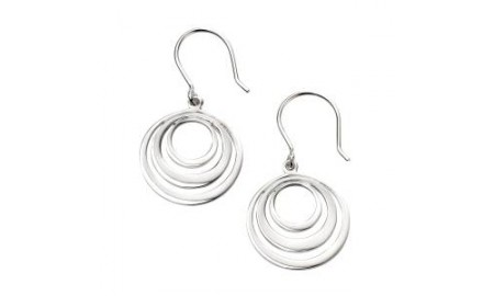 Beginnings Silver Circle Earrings